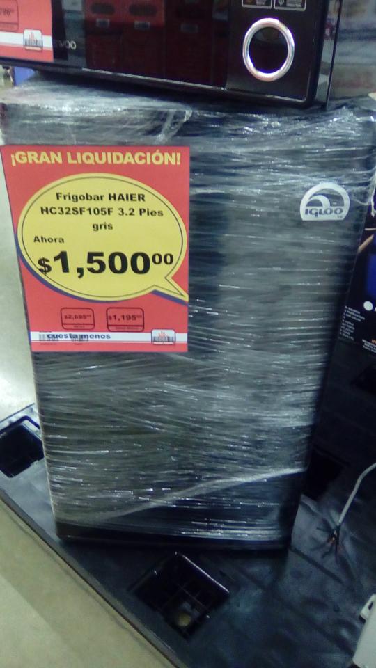 Chedraui Comalcalco Tab, liquidación de linea blanca, Frigobar $1,500