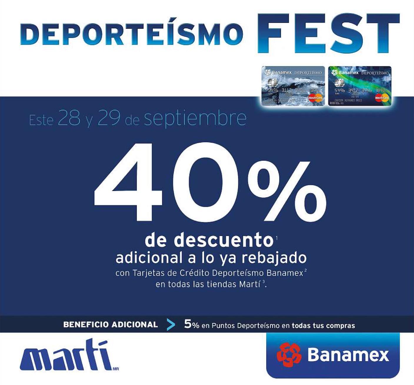 Martí: deporteísmo fest 28 y 29 de septiembre