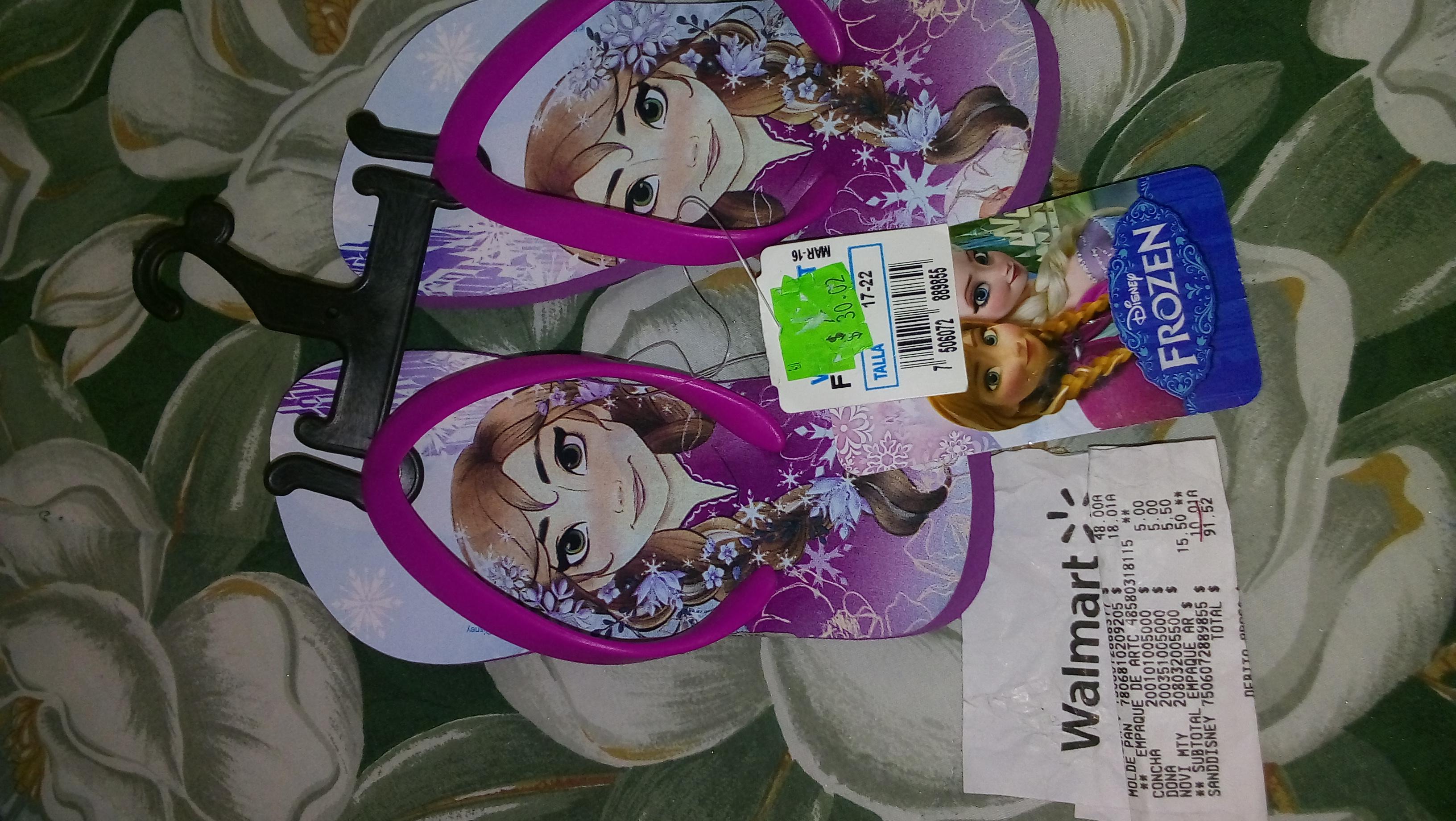 Walmart: Sandalias Disney Frozen a $10.01
