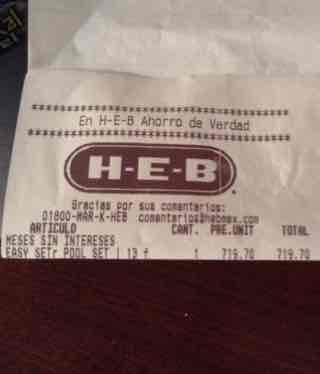 HEB San Luis Potosí: Alberca Intex a $719.70