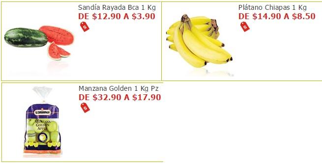 Soriana Híper y Súper: Sandia $3.90 kg, Plátano $8.50 kg y Manzana Golden en Bolsa $17.90 kg.