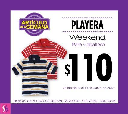 Artículo de la semana en Suburbia: playera para caballero a $110