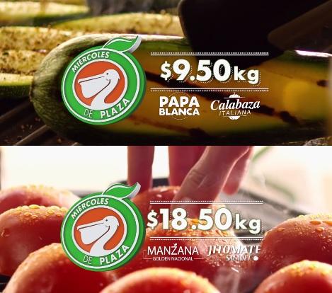 La Comer y Fresko: Miércoles de Plaza 28 Septiembre: Papa Blanca o Calabaza Italiana $9.50 kg, Manzana Golden o Jitomate Saladet $18.50 kg.