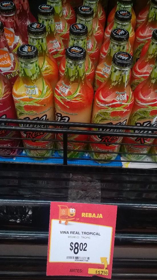 Walmart: Viña Real a $8.02, 4 latas V8 Splash a $16.03