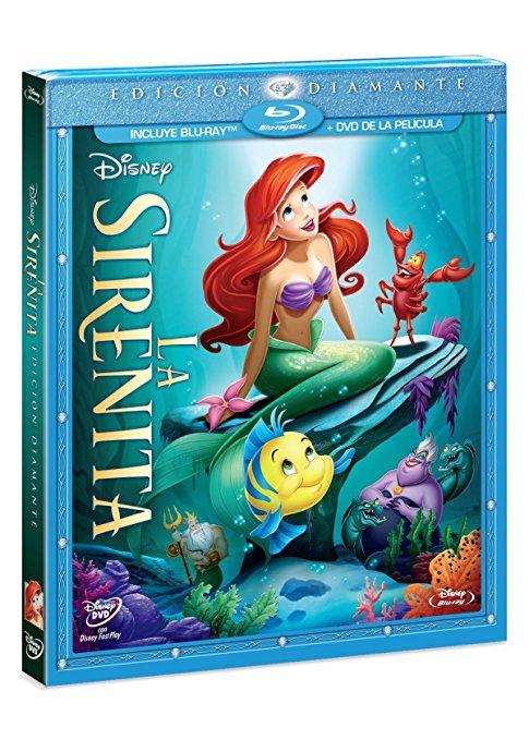 Amazon MX: La Sirenita Edicion Diamante Blu-Ray + DVD Combo Pack a $49
