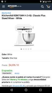 AMAZON EEUU: batidora KitchenAid rebajada