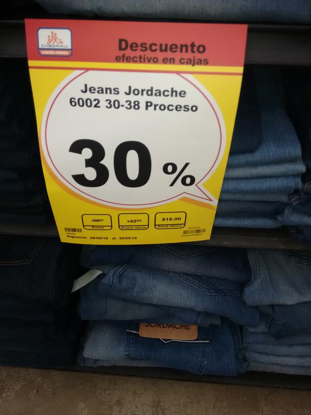 Chedraui Comalcalco Tabasco: pantalon jordache mod. 6002 a $42, 3x2 en focos ahorradores