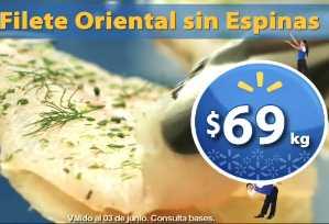 Fin de semana de frescura Walmart junio 1: filete oriental $69 Kg y más