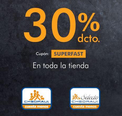 Mercadoni: 30% de descuento en Chedraui y Chedraui Selecto