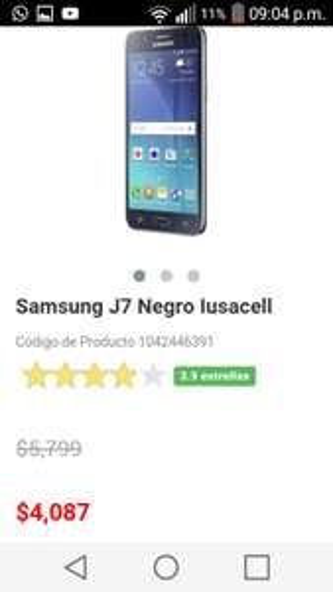 Liverpool: Samsung J7 Negro Iusacell