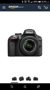 Amazon: Nikon D3300 18 - 55mm f/3 5 -5.6 G VR II DSLR Cámara DX DSLR Color Negro