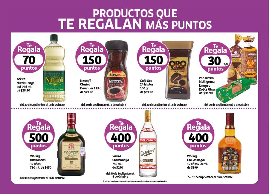 Soriana Híper: Productos que regalan puntos del 30 de Septiembre al 3 de Octubre