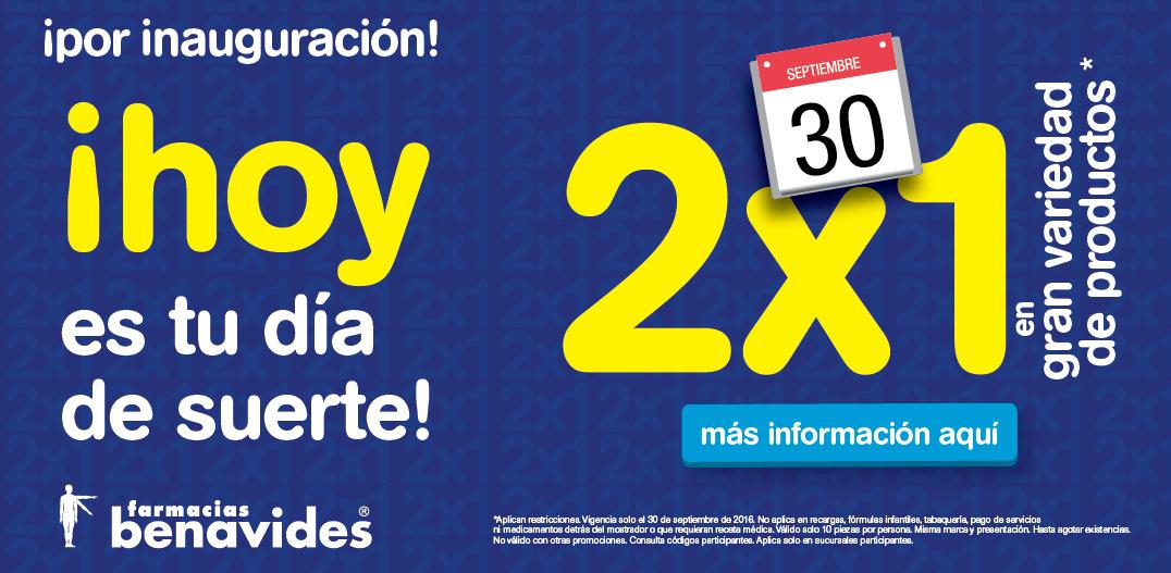 Farmacias Benavides: 2x1 por Inauguración de sucursales en Nuevo León