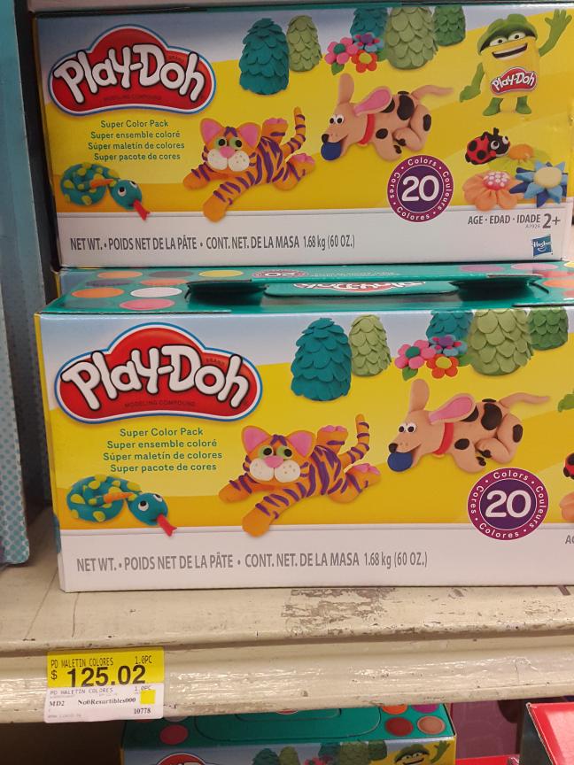 Bodega Aurrerá Acopa CDMX: Play-doh  20 colores a $125.02