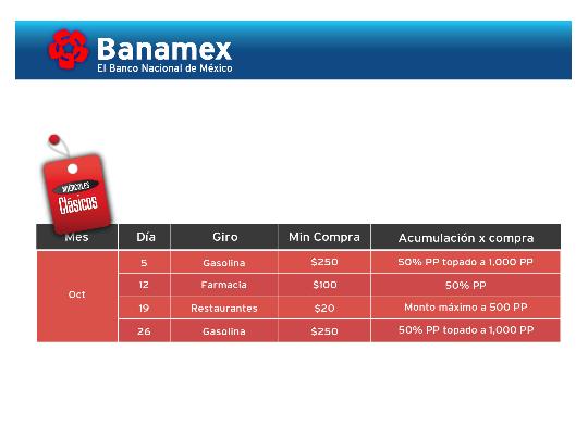 Banamex: Miércoles Clásicos Octubre.