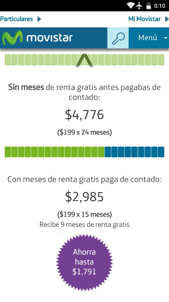 Movistar: Planes pago anticipado.