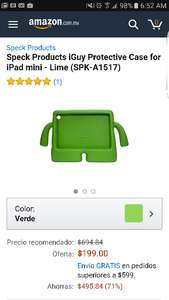 Amazon: Funda ipad mini - Marca iGuy Lime (SPK-A1517)