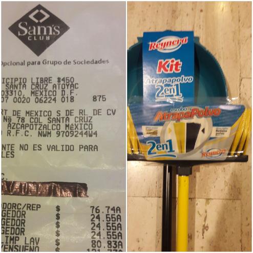 Sam's Club: Escoba atrapapolvo y recogedor a $25.55
