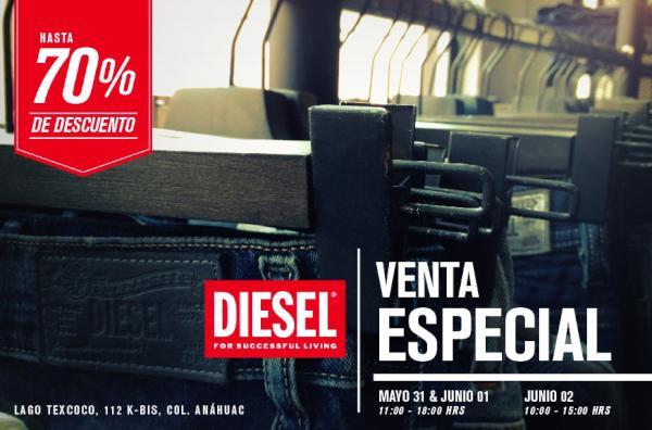 Diesel: sample sale con descuentos de hasta el 70%