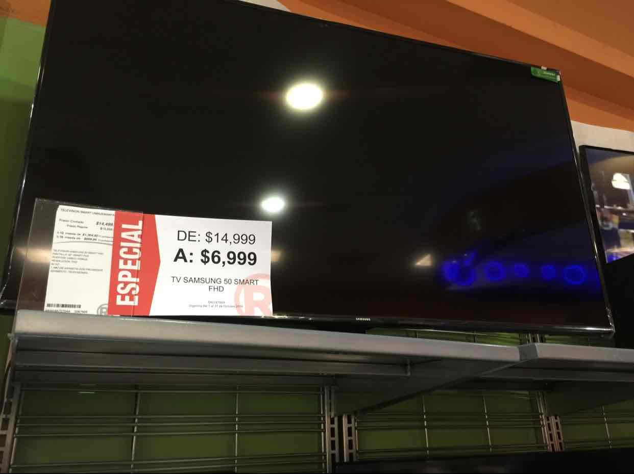 Radioshack Torreon: Smart TV 50 Samsung a $6,999