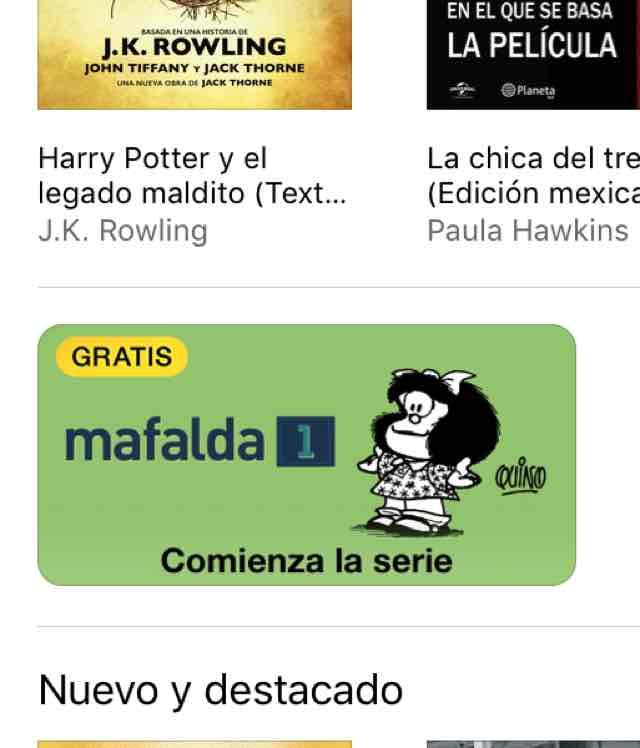 iBooks de Apple mafalda 1 Gratis