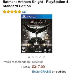 Amazon: Batman: Arkham Knight para PS4 a $317