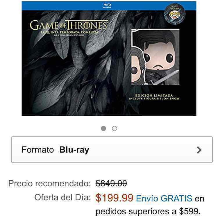 Amazon: Game of Thrones. Temporada 5 (Edición con figura de Jon Snow) [Blu-ray]