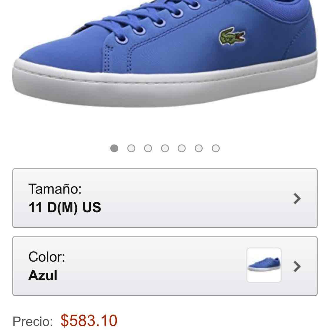 Amazon: Lacoste  STRAIGHTSET SPT 216 1 Fashion Sneaker para caballero