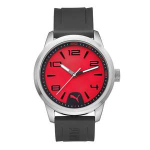 Amazon: PUMA Quartz Stainless Steel and Polyurethane Automatic Watch, Color:Black (Model: PU104041002)