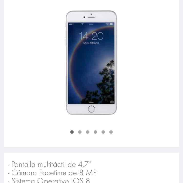 Linio: iPhone 6 128GB reaccionado (envío internacional)