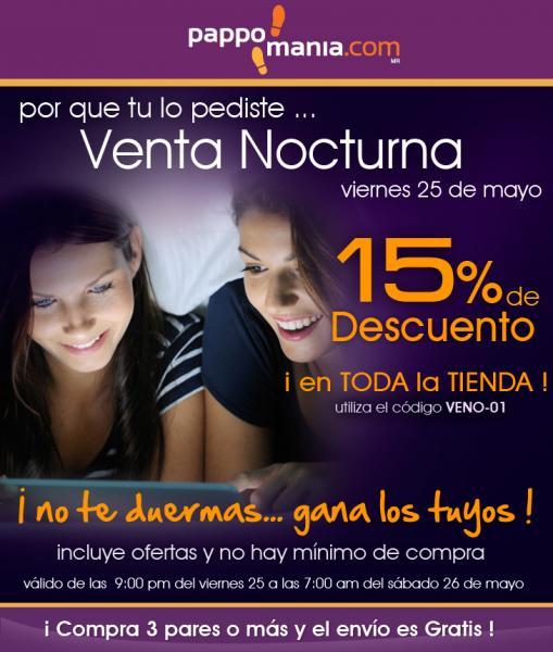 Venta Nocturna Pappomania: 15% de descuento en toda la tienda