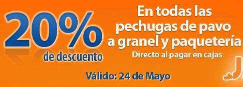 Chedraui: 20% de descuento en pechugas de pavo