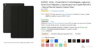 Amazon: Funda iPad Air 2 KHOMO - DUAL de $700 a $269