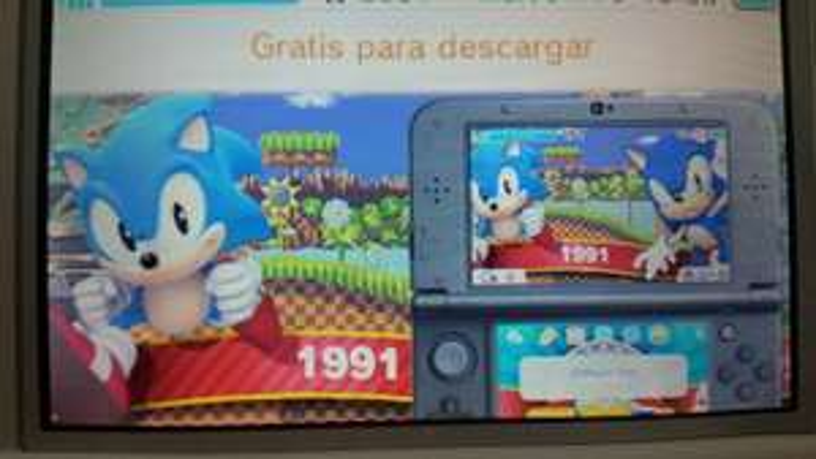 eShop Nintendo: Tema de Sonic gratis para Nintendo 3DS