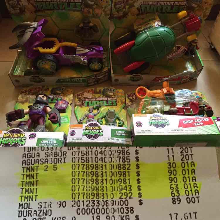 Walmart: varios juguetes de las Tortugas Ninja a $30.01, $63.01 y $90.01