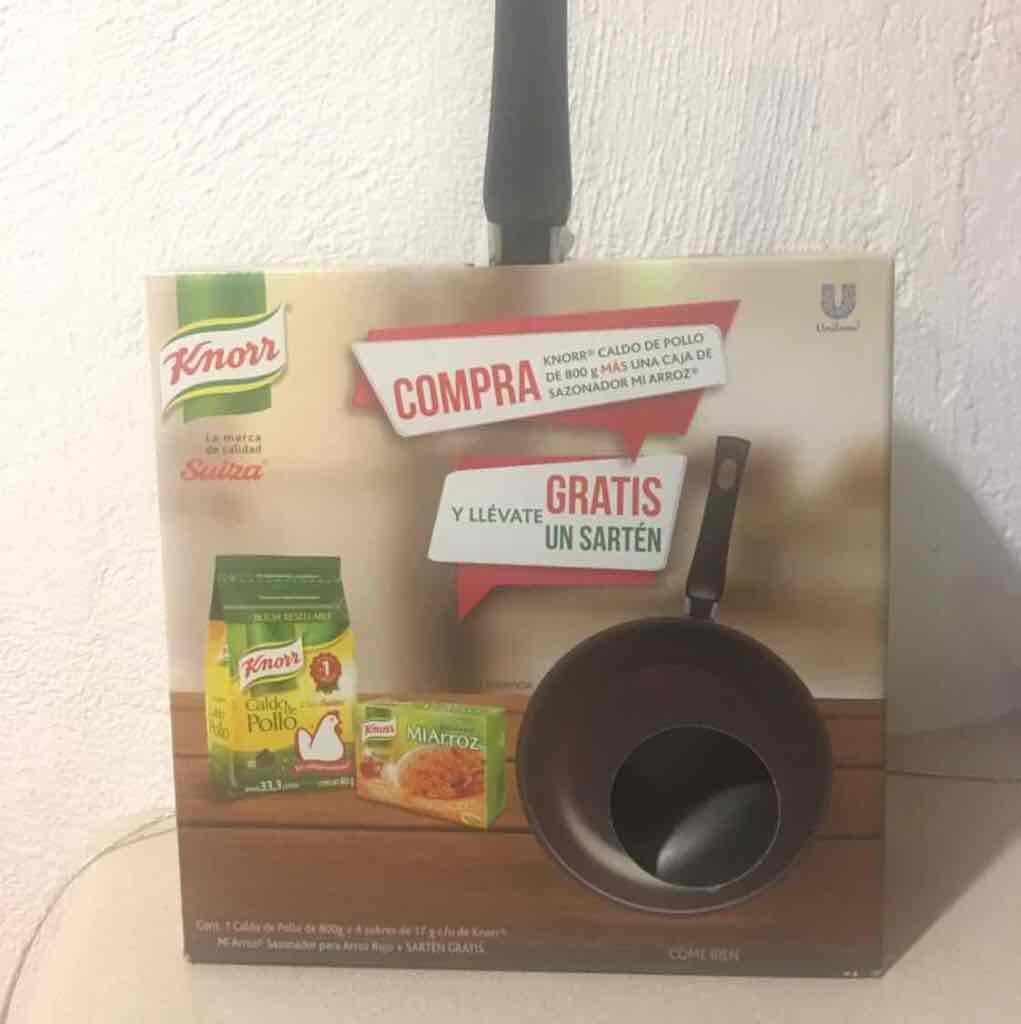 Chedraui Queretaro: consome de pollo. 800 gramos y sartén de regalo