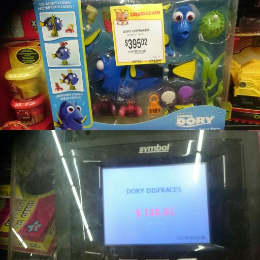 Walmart: Dory Disfraces a $118.01