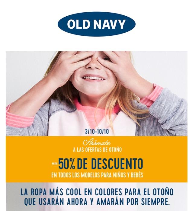 Old Navy: 50% de descuento en bebés y niños