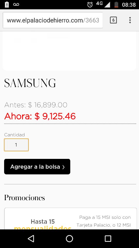 Palacio de Hierro: SAMSUNG LAVASECADORA FRONTAL 11.5 KG INOX9,125.00