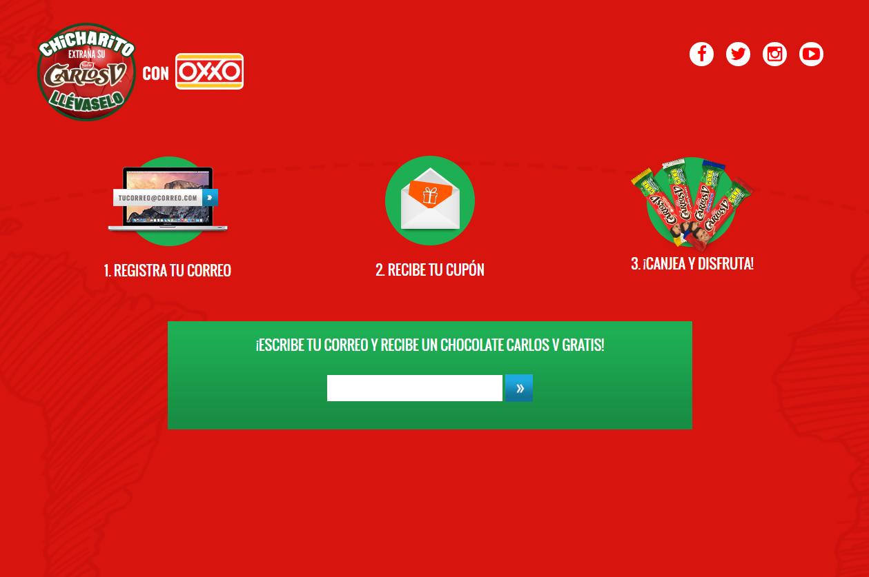 Oxxo: cupón para Carlos V gratis al dejar tu correo