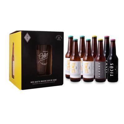 Superama: paquete cerveza artesanal Cervecería de Colima 8 botellas de 355 ml c/u + vaso