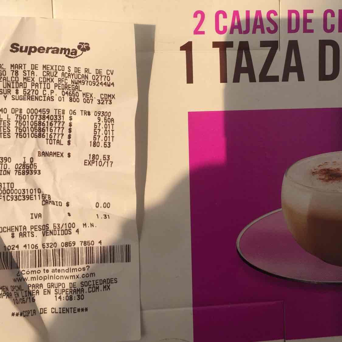 Superama: Dos cajas de te chai Dolce Gusto + taza y un plato de regalo a $57.01
