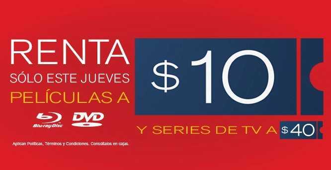 Blockbuster: rentas a $10 jueves 24 de mayo
