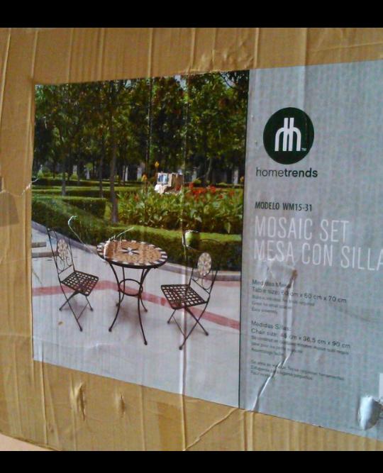 Walmart Chilpancingo: Set de Jardín mesa y dos sillas $899.01