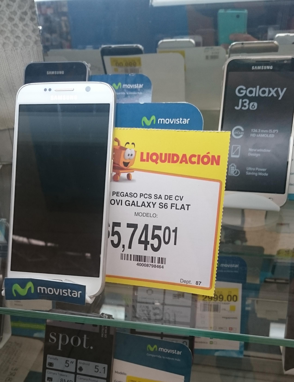 Walmart Reforma Puebla: Samsung Galaxy S6 Flat a $5,745.01
