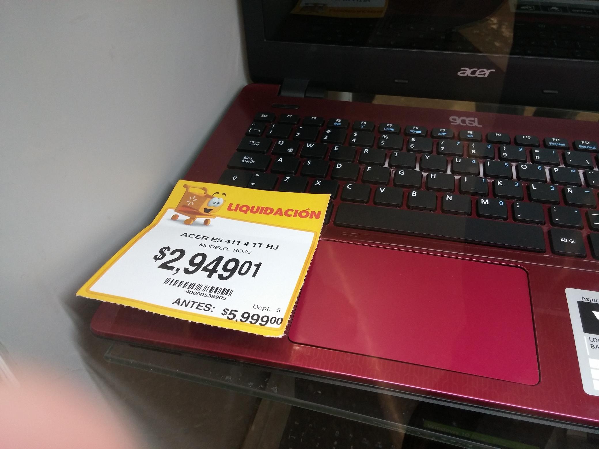 Walmart: Laptop Acer E5 (Liquidación) a $2,949.01