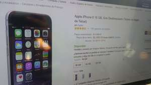 Amazon: iPhone 6 16 GB, Gris Desbloqueado a $8,999