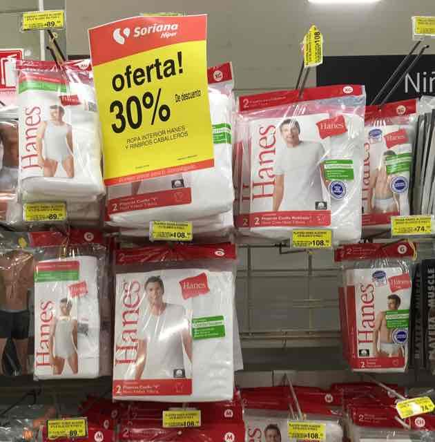 Soriana: ropa interior caballeros, calcetería con 30% descuento y más