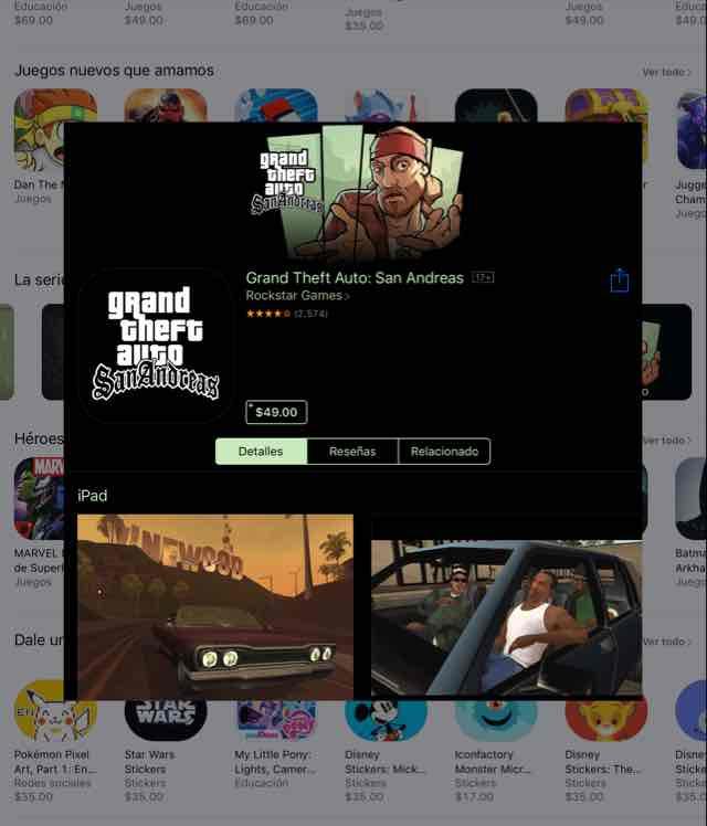 App Store: 60% Descuento Serie GTA