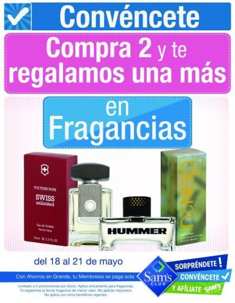 Sams Club: 3x2 en perfumes